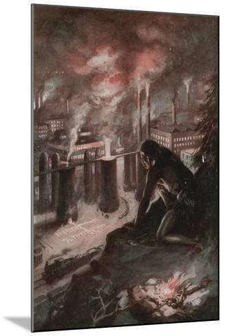 What the First Man Saw in the Fire--Mounted Giclee Print