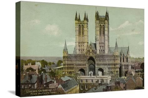 Lincoln Cathedral, from the Castle Tower--Stretched Canvas Print
