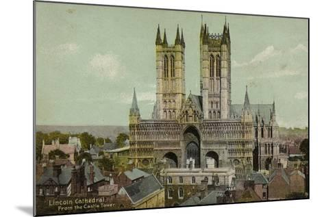 Lincoln Cathedral, from the Castle Tower--Mounted Photographic Print