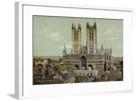 Lincoln Cathedral, from the Castle Tower--Framed Art Print