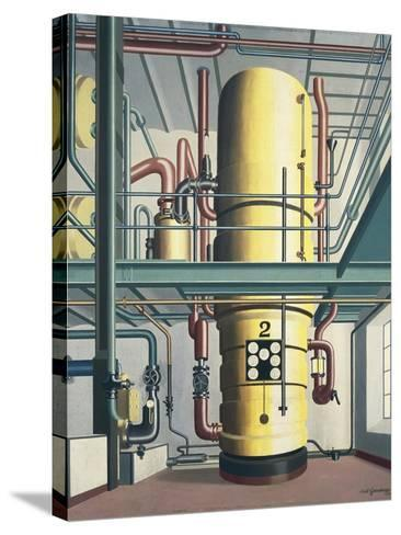 Yellow Boiler, 1933-Carl Grossberg-Stretched Canvas Print