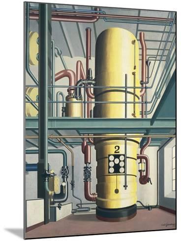 Yellow Boiler, 1933-Carl Grossberg-Mounted Giclee Print