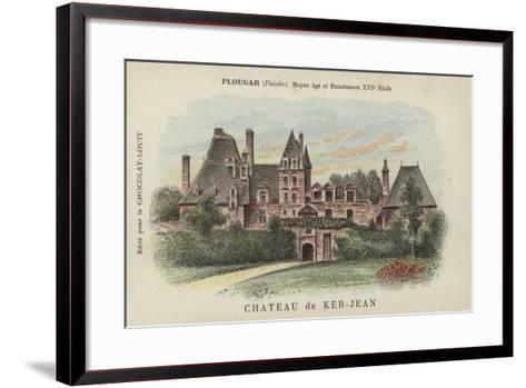 Chateau De Ker-Jean, Plougar, Finistere--Framed Art Print