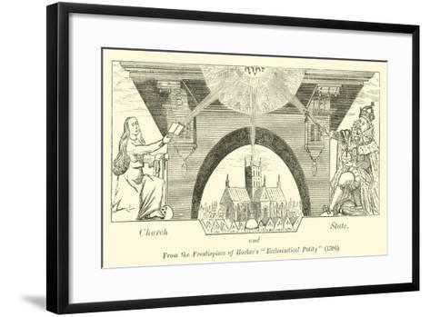 Church and State--Framed Art Print