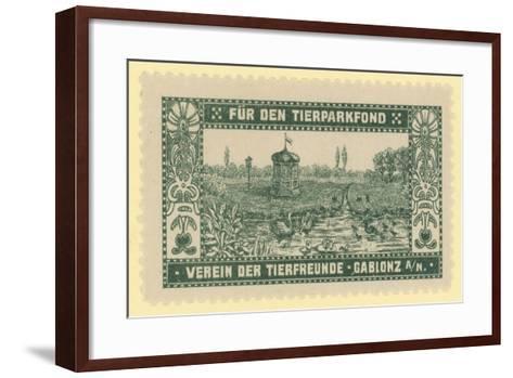 Zoo Fund, Gablonz, Bohemia--Framed Art Print