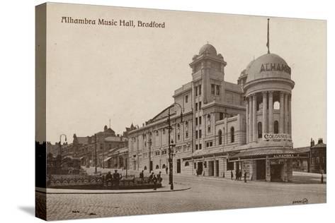 Alhambra Music Hall, Bradford--Stretched Canvas Print