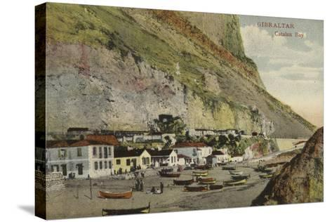 Catalan Bay, Gibraltar--Stretched Canvas Print
