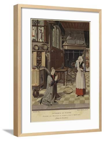Kitchen Interior-Jan Mostaert-Framed Art Print