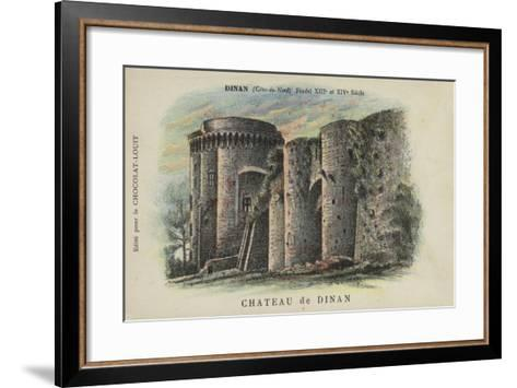 Chateau De Dinan, Dinan, Cotes-Du-Nord--Framed Art Print