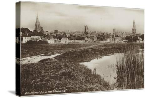 Stamford, Lincolnshire, from the Meadows--Stretched Canvas Print