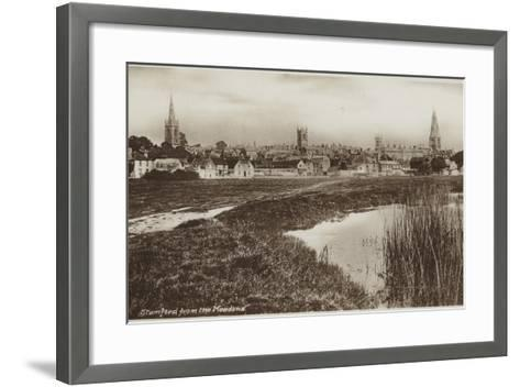 Stamford, Lincolnshire, from the Meadows--Framed Art Print