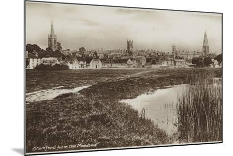 Stamford, Lincolnshire, from the Meadows--Mounted Photographic Print