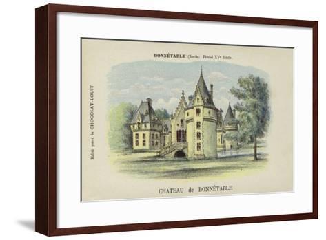Chateau De Bonnetable, Bonnetable, Sarthe--Framed Art Print