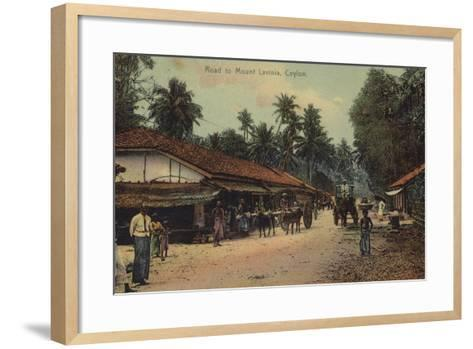 Road to Mount Lavania in Ceylon--Framed Art Print