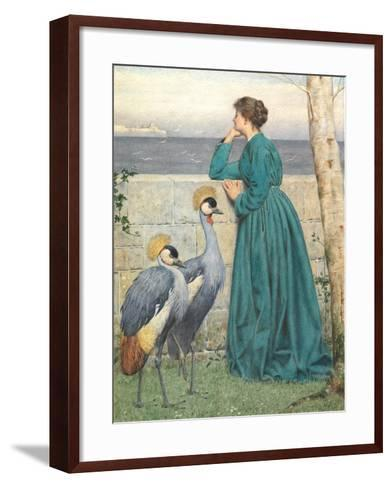 Waiting and Watching-Henry Stacey Marks-Framed Art Print