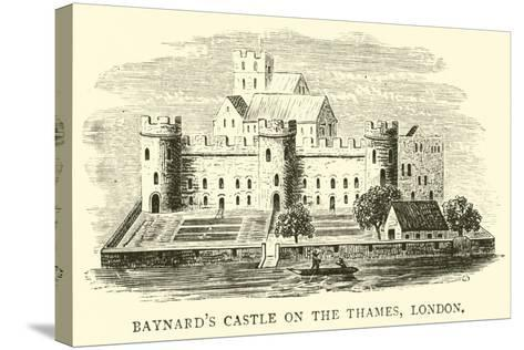 Baynard's Castle on the Thames, London--Stretched Canvas Print