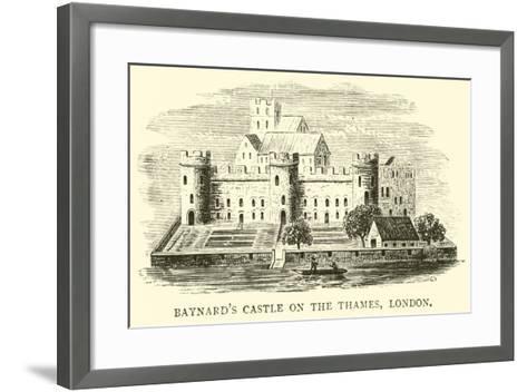 Baynard's Castle on the Thames, London--Framed Art Print