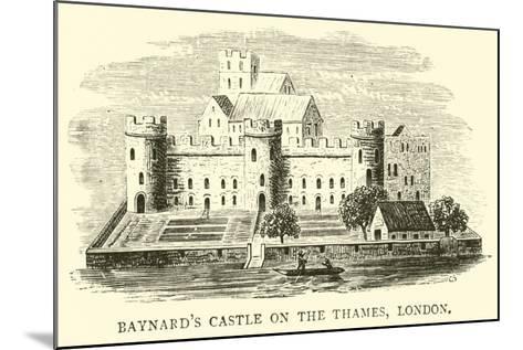 Baynard's Castle on the Thames, London--Mounted Giclee Print