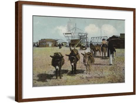 The Beach, Skegness, Lincolnshire--Framed Art Print