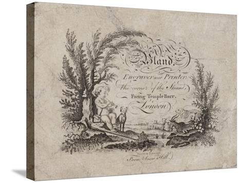 Engraver and Printer, Bland, Trade Card--Stretched Canvas Print