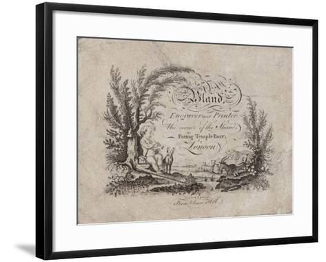 Engraver and Printer, Bland, Trade Card--Framed Art Print