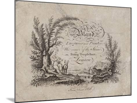 Engraver and Printer, Bland, Trade Card--Mounted Giclee Print