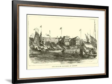 The English Factories at Canton--Framed Art Print