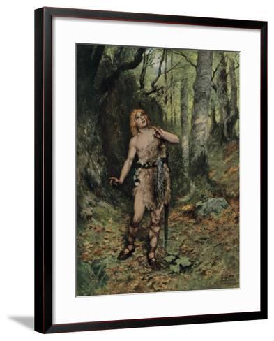 Then in the Silence a Bird Sang to Him-Ferdinand Lecke-Framed Art Print