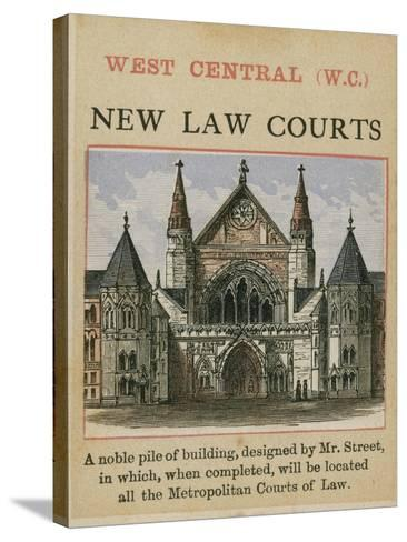 New Law Courts--Stretched Canvas Print