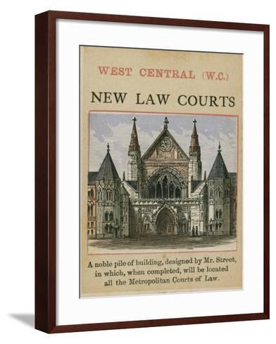 New Law Courts--Framed Art Print