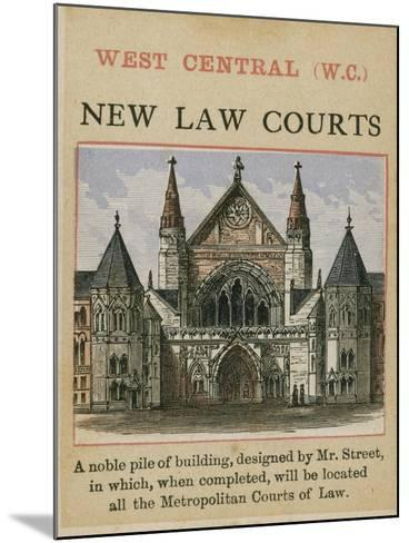 New Law Courts--Mounted Giclee Print