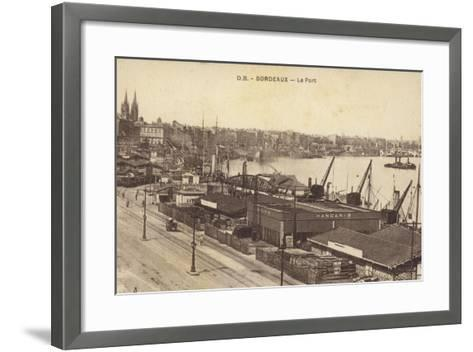 Postcard Depicting the Port in Bordeaux--Framed Art Print