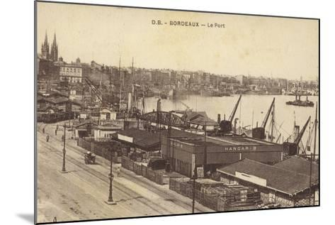 Postcard Depicting the Port in Bordeaux--Mounted Photographic Print