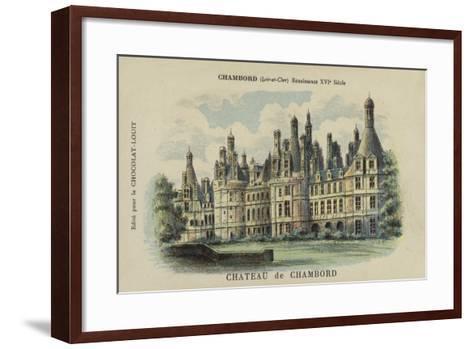 Chateau De Chambord, Chambord, Loir-Et-Cher--Framed Art Print