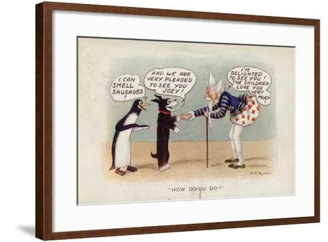 How D'You Do? - Pip, Squeak and Wilfred--Framed Art Print