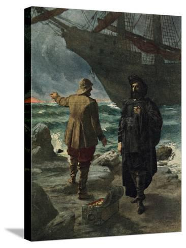 Daland Looked at the Stranger Keenly-Hermann Hendrich-Stretched Canvas Print