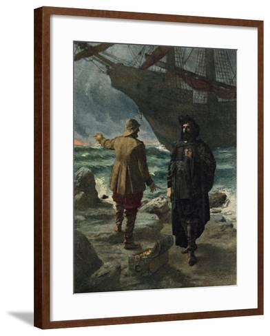 Daland Looked at the Stranger Keenly-Hermann Hendrich-Framed Art Print