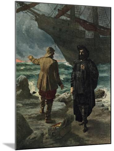 Daland Looked at the Stranger Keenly-Hermann Hendrich-Mounted Giclee Print