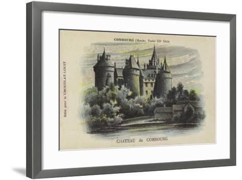 Chateau De Combourg, Combourg, Manche-French School-Framed Art Print