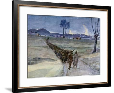 Replacements Arriving for the Trenches, Ypres--Framed Art Print