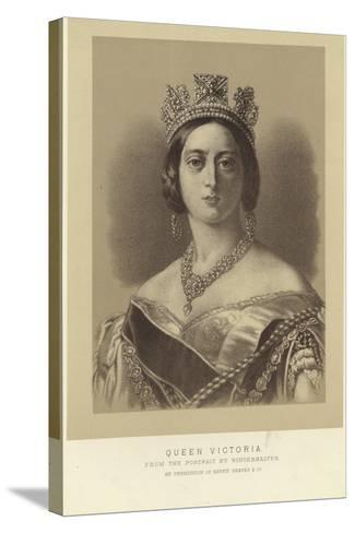 Portrait of Queen Victoria-Franz Xaver Winterhalter-Stretched Canvas Print