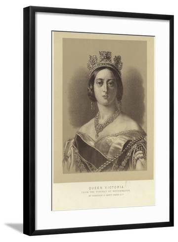 Portrait of Queen Victoria-Franz Xaver Winterhalter-Framed Art Print