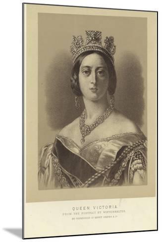 Portrait of Queen Victoria-Franz Xaver Winterhalter-Mounted Giclee Print