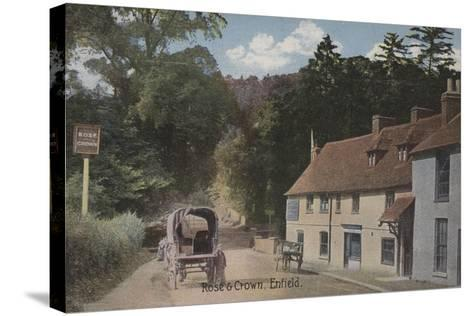 Rose and Crown, Enfield--Stretched Canvas Print
