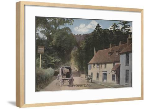 Rose and Crown, Enfield--Framed Art Print