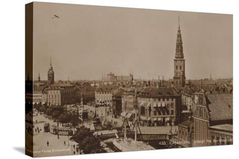 Copenhagen, View from the Stock Exchange Tower--Stretched Canvas Print