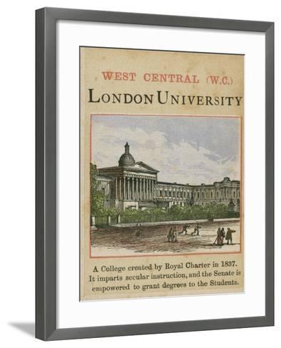 London University--Framed Art Print