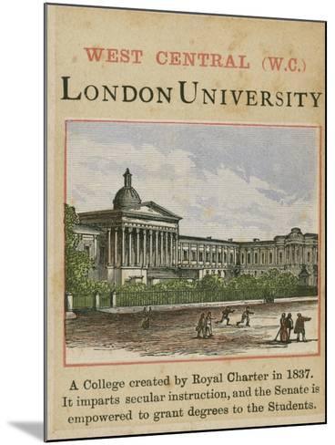 London University--Mounted Giclee Print