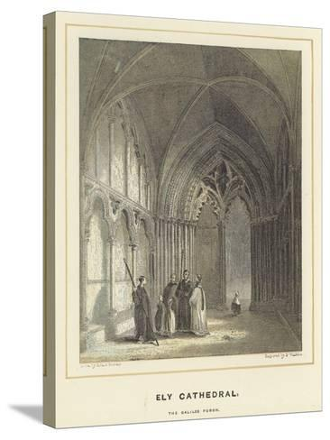 Ely Cathedral, the Galilee Porch-Hablot Knight Browne-Stretched Canvas Print