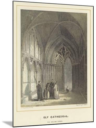Ely Cathedral, the Galilee Porch-Hablot Knight Browne-Mounted Giclee Print